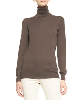 Loro Piana Dolcevita Piuma Cashmere Turtleneck Sweater