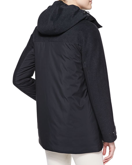 Jerome Hooded Windstorm Coat