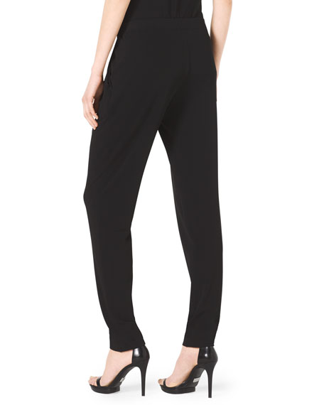 Pleat-Front Stretch-Jersey Pants
