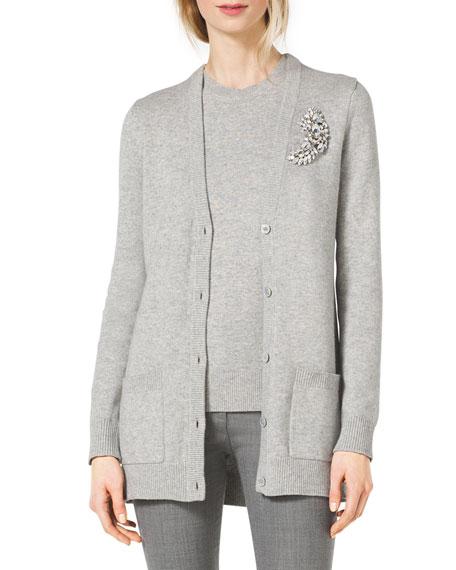 Long Cotton/Cashmere Cardigan