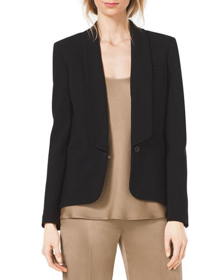 Shawl-Collar Crepe Blazer