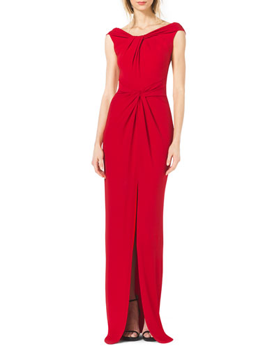 Michael Kors  Twisted Off-The-Shoulder Gown
