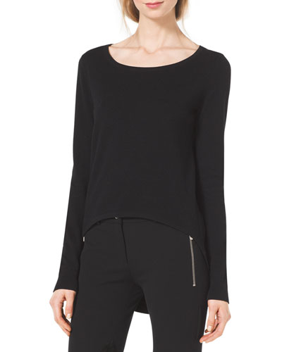 Michael Kors  Cotton/Cashmere High-Low Sweater