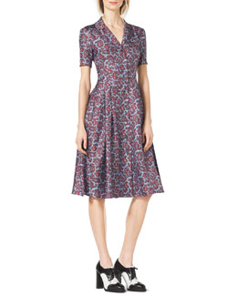 Michael Kors  Paisley-Print Silk Shirtdress