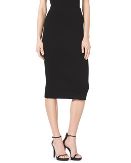 Michael Kors  Formfitting Wool Tube Skirt