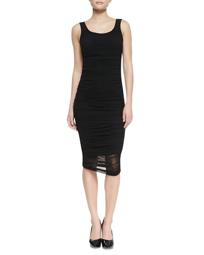 Jean Paul Gaultier Solid Tank Fitted Dress, Black