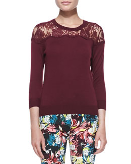 Erdem Manon Lace-Yoke Jumper