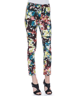 Erdem Melinda Fitted Printed Trousers