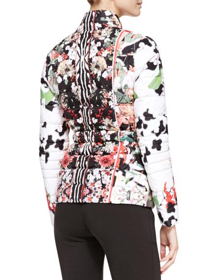 Eden-Print Long-Sleeve Puffer Coat