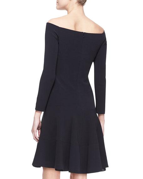 Full Off-Shoulder Jersey Dress