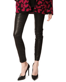 Saint Laurent Lambskin Leather Leggings