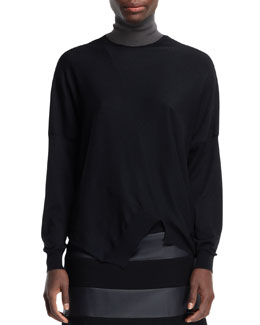 Stella McCartney Asymmetric Seamed Turtleneck