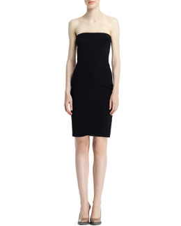 Stella McCartney Azelia Strapless Tuxedo Dress, Black