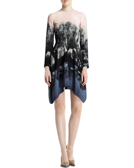 Fireworks Hampstead Printed Dress, Black/Blush/Multi