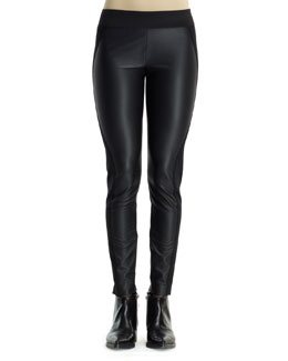 Stella McCartney Pleather/Knit Combo Leggings