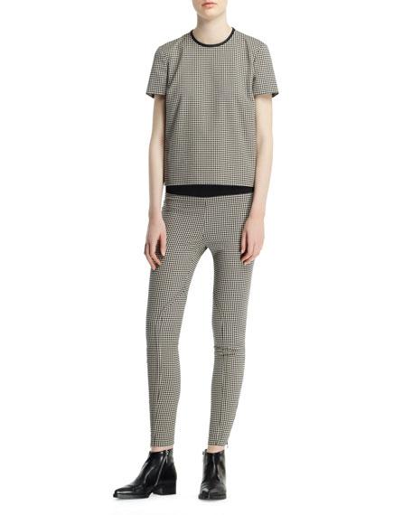 Mini-Houndstooth Jodhpur Pants, Black White