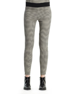 Stella McCartney Mini-Houndstooth Jodhpur Pants, Black White
