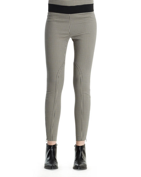 Mini-Houndstooth Jodhpur Pants, Black White