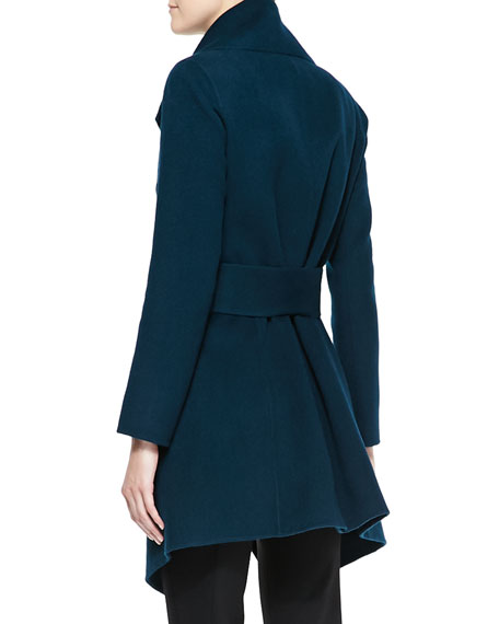 Self-Belted Cashmere Wrap Coat