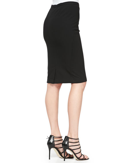 Pull-On Jersey Pencil Skirt