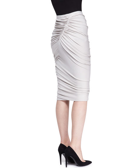 Crush Jersey Pencil Skirt