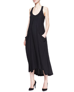 Donna Karan Sleeveless Dress with Draped Pockets
