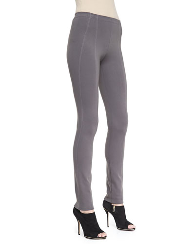 Donna Karan Pull-On Seamed Legging Pants, Slate