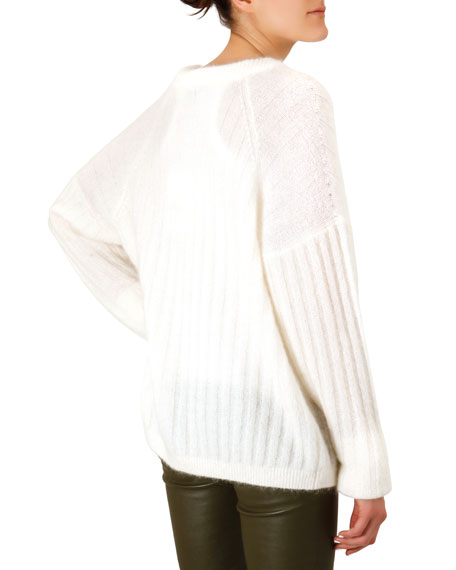 Dropped-Sleeve Mohair-Blend Sweater