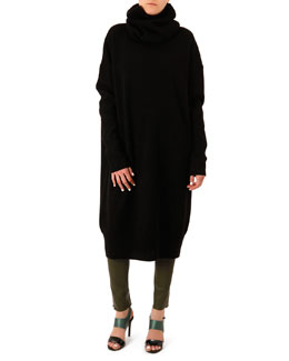 Acne Studios Dita Oversized Scarf-Neck Dress