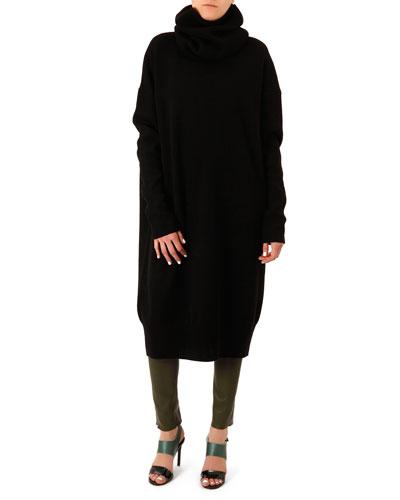 Acne Studios Dita Oversized Scarf-Neck Dress
