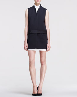 Victoria by Victoria Beckham Sleeveless Two-Piece Tux Dress