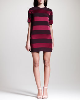 Victoria by Victoria Beckham Combo Striped Tunic Dress