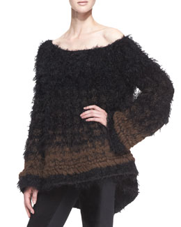 Donna Karan Oversized Cashmere/Alpaca Blend Sweater
