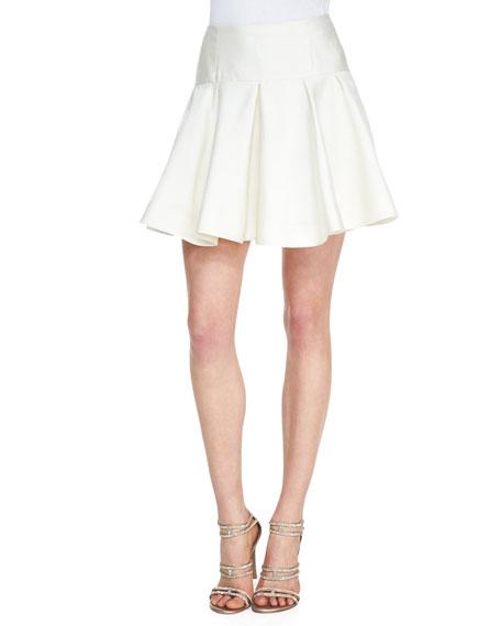 Drop-Waist Flounce Skirt, Ivory