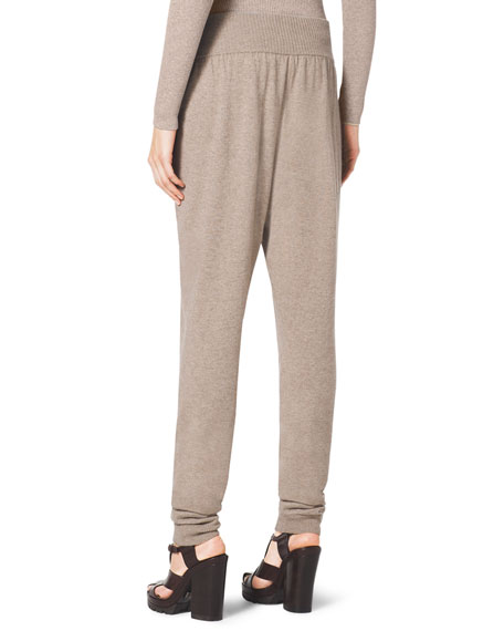 Wide-Waist Cashmere Sweatpants