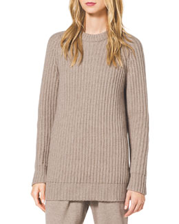 Michael Kors  Chunky Ribbed Cashmere Turtleneck