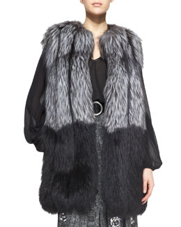 Michael Kors  Ombre Fox Fur Vest
