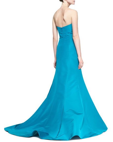 Strapless Evening Gown, Turquoise