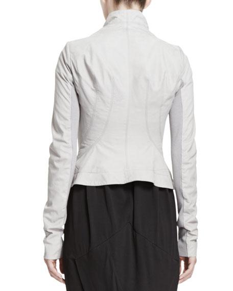Princess Shawl-Collar Leather Jacket