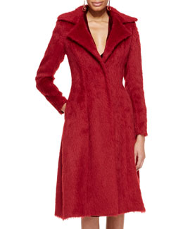 Oscar de la Renta Long Alpaca Princess Coat