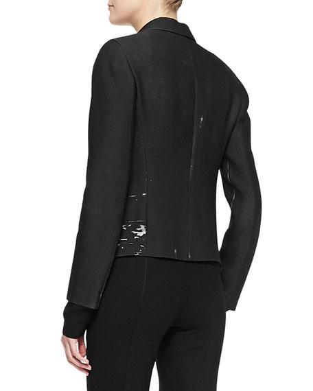 Metallic Printed Boyfriend Jacket