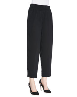 Donna Karan Cropped Pants, Black