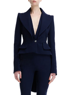 Alexander McQueen Wool Double-Lapel One-Button Jacket