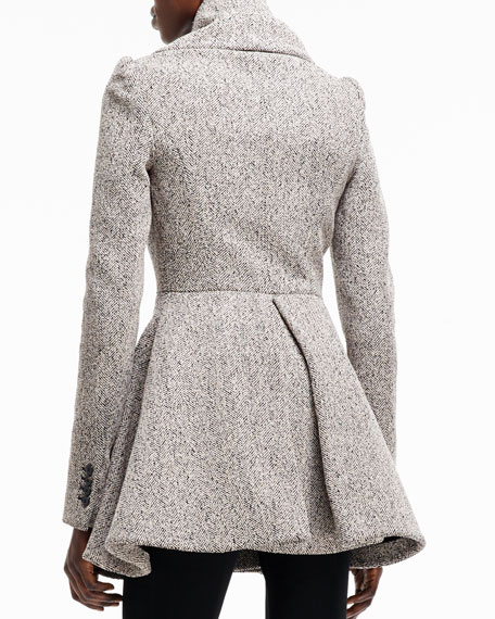 Herringbone Boucle Two-Button Jacket