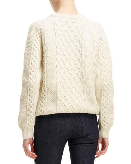 Alexander McQueen Cable-Knit Skull-Design Sweater