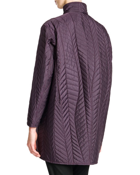 Quilted Drop-Shoulder Tech Coat