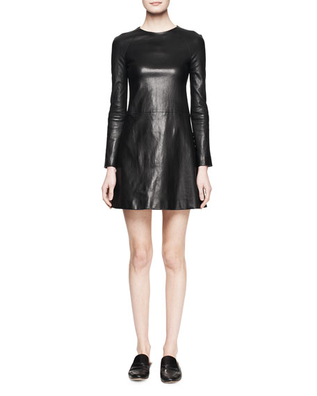 Hawnler A-Line Leather Dress