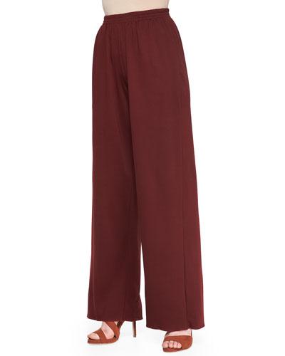 eskandar Pima Cotton Trousers, Cochineal