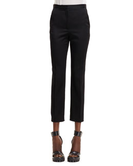 Alexander McQueen High-Waist Cropped Pants