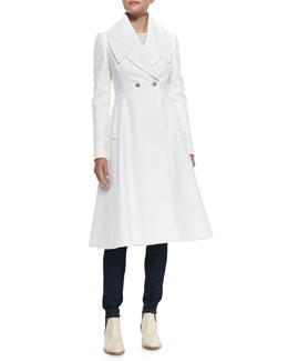 Alexander McQueen Long Felt Knit Circle Coat